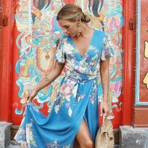 Spell and the Gypsy Blue Skies maxi dress